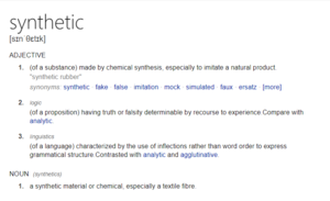 define synthetic