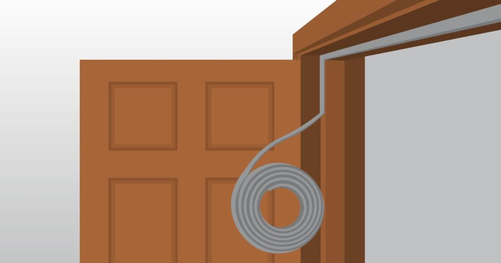 seal a door with rubber