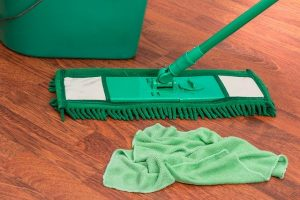 kitchen floor cleaning with mop